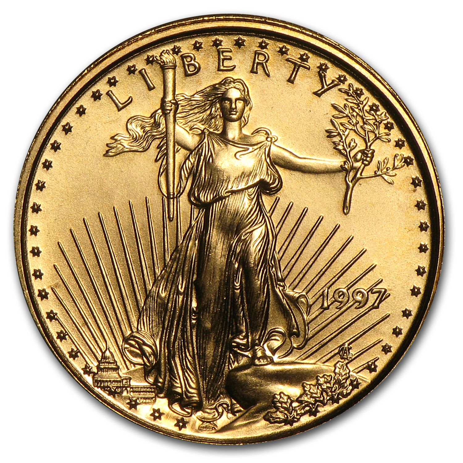1997 1/10 oz Gold American Eagle (BU)