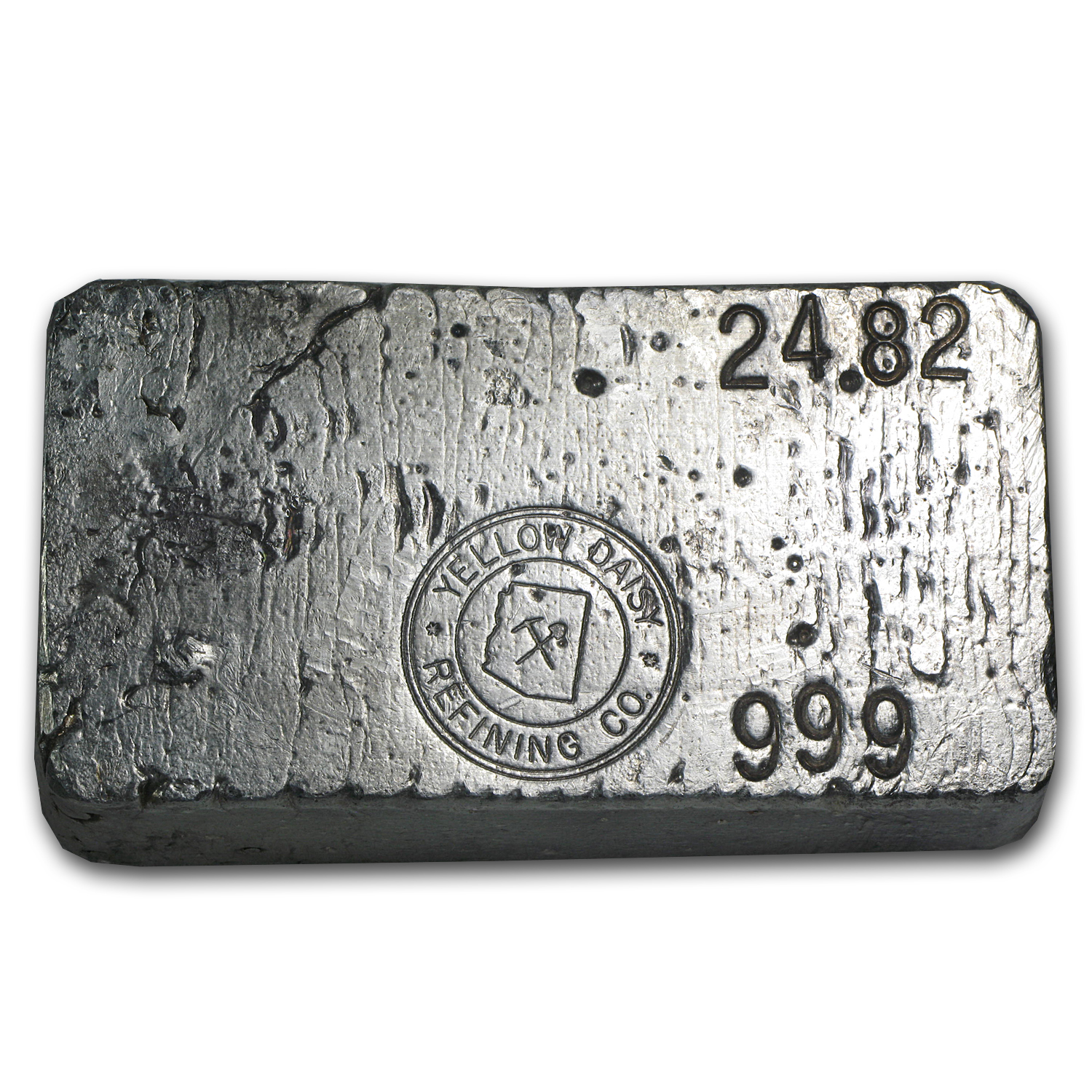 24.82 oz Silver Bar - Yellow Daisy Refining Co.