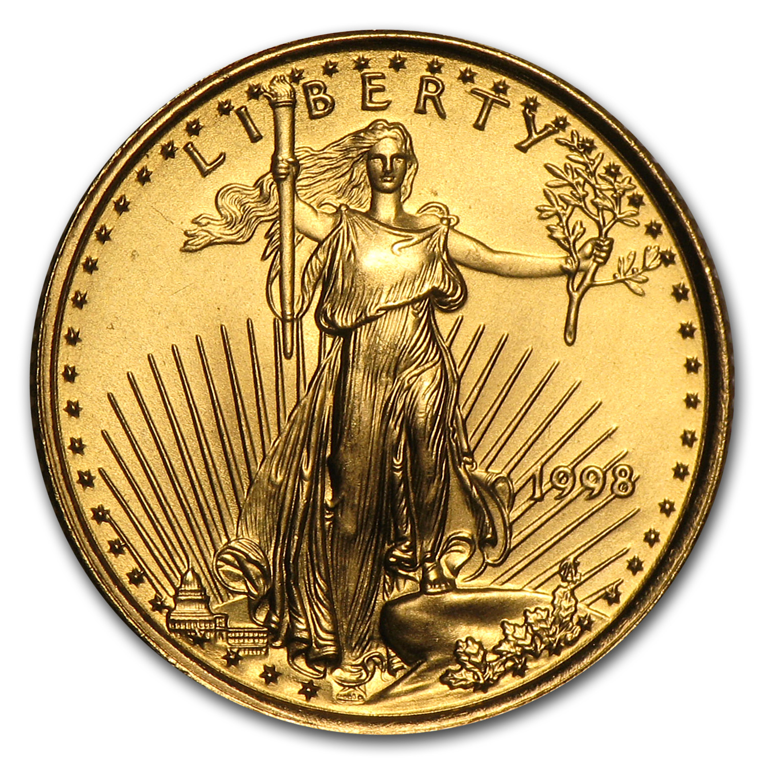 1998 1/10 oz Gold American Eagle BU