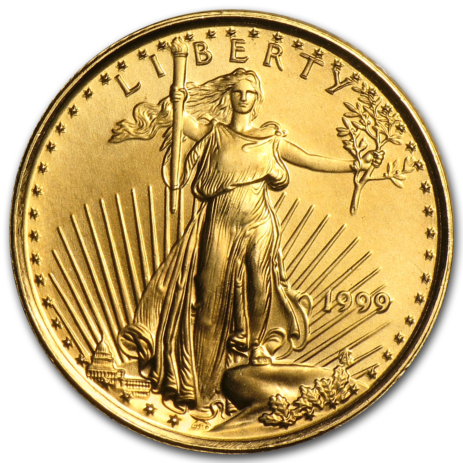 1999 1/10 oz Gold American Eagle BU