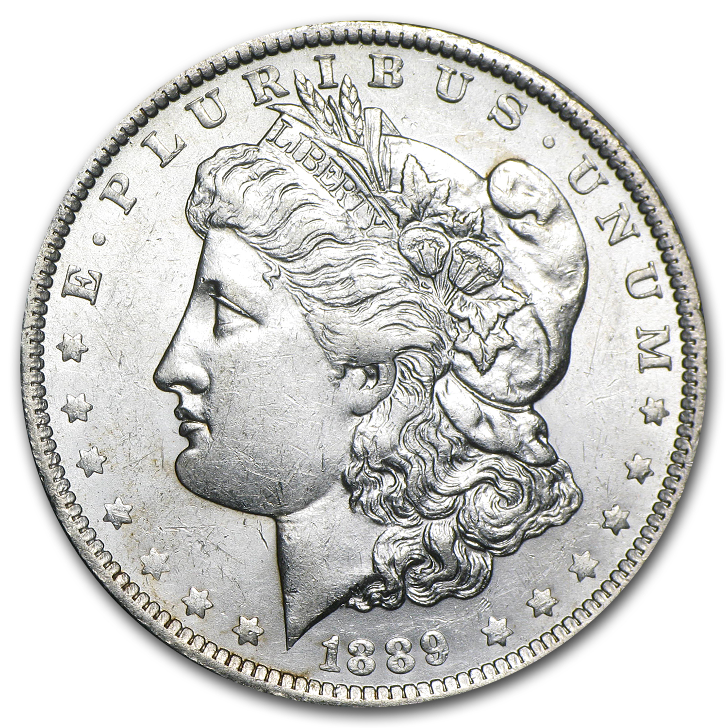 1889-O Morgan Dollar - Almost Uncirculated-58