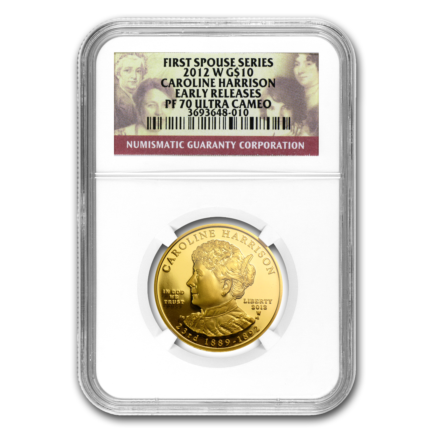 2012-W 1/2oz Proof Caroline Harrison NGC PF-70 UCAM Early Release