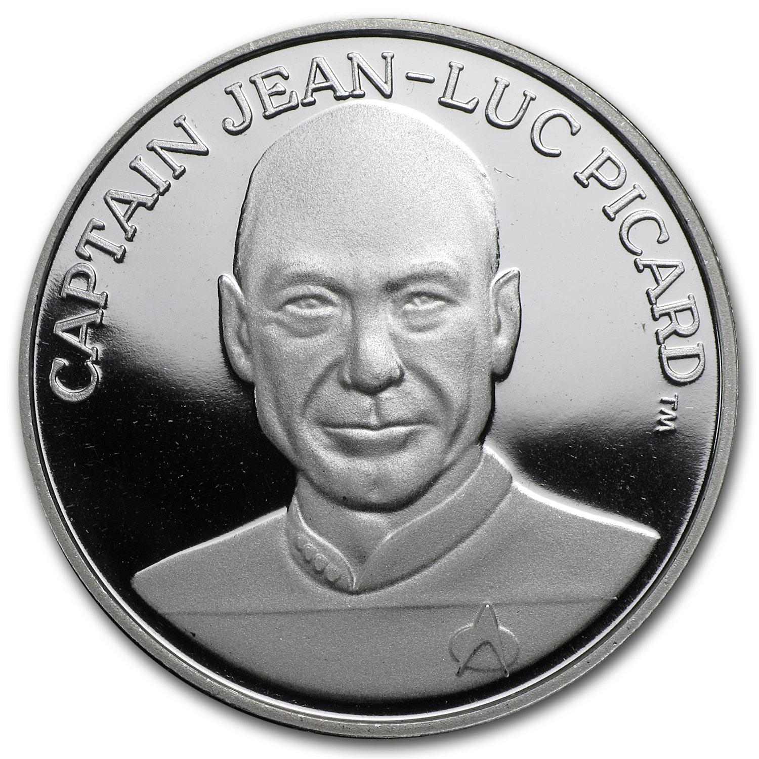 1 oz Silver Rounds - Star Trek (Captain Jean-Luc Picard)