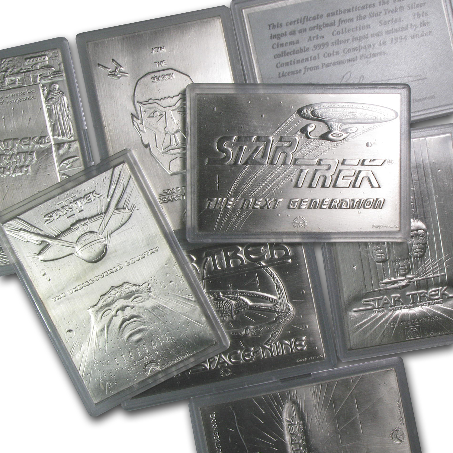 1 oz Silver Bars - Star Trek (Various)