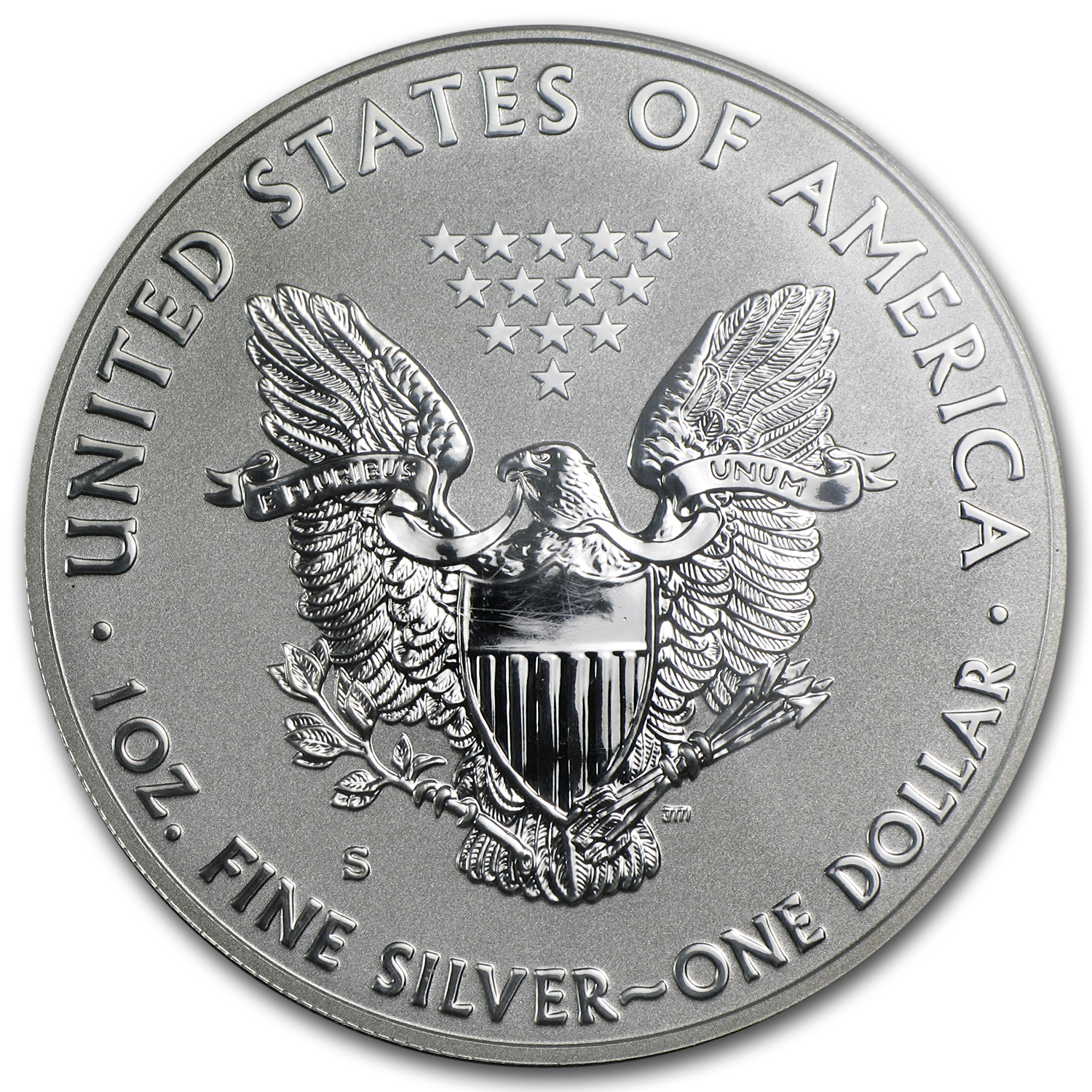 2012-S Reverse Proof Silver Eagle PR-69 PCGS (75th Anniv)