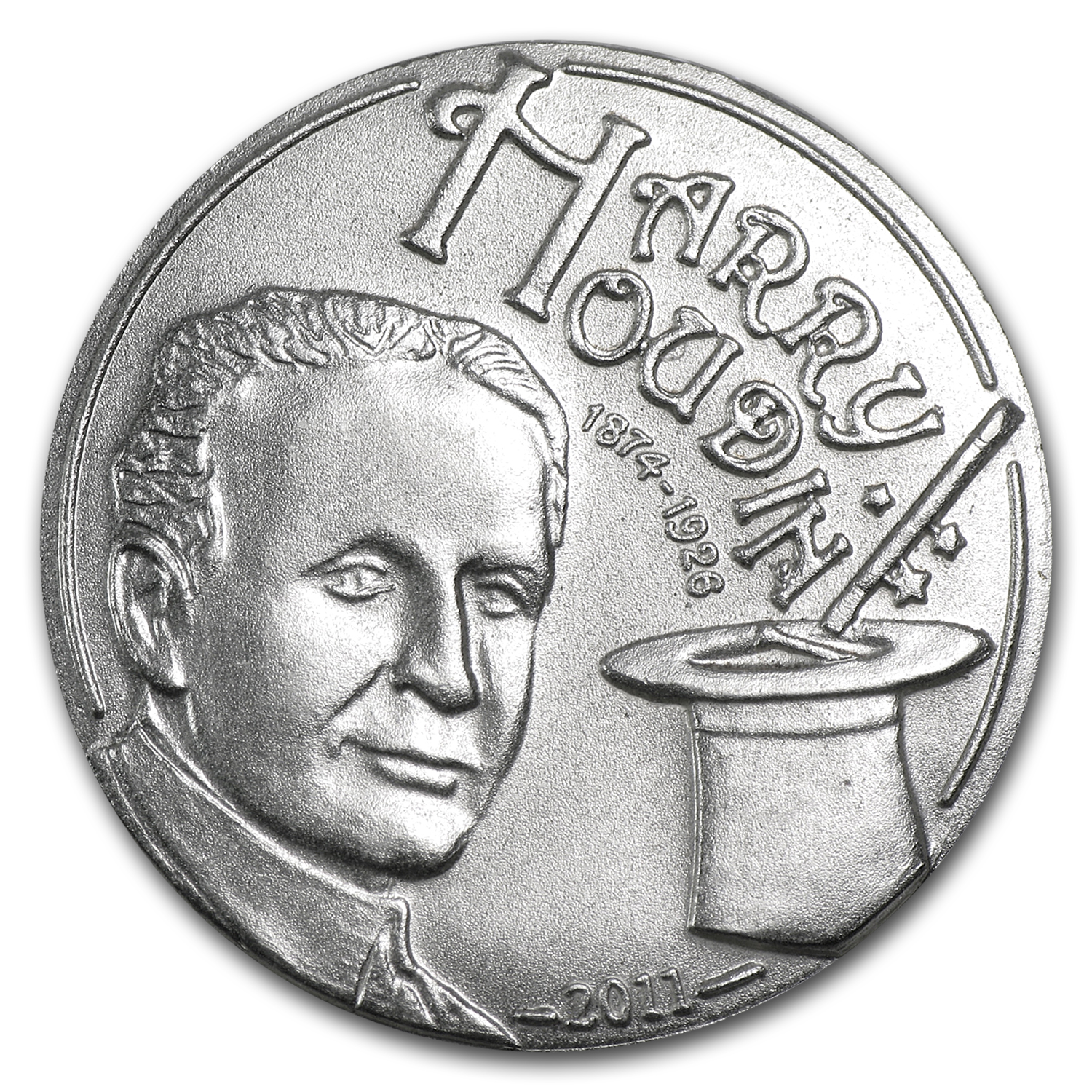 Palau 2011 CuNi $1 Harry Houdini Coin with a Magic Coin Box