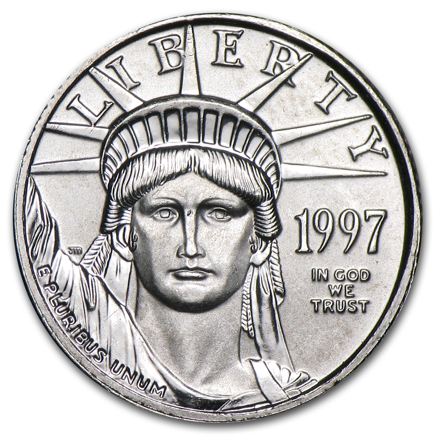 1997 1/10 oz Platinum American Eagle BU