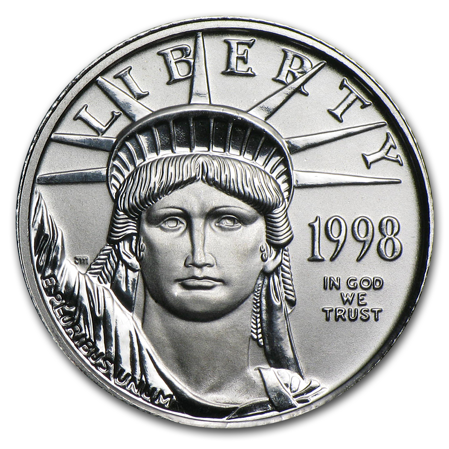 1998 1/10 oz Platinum American Eagle BU