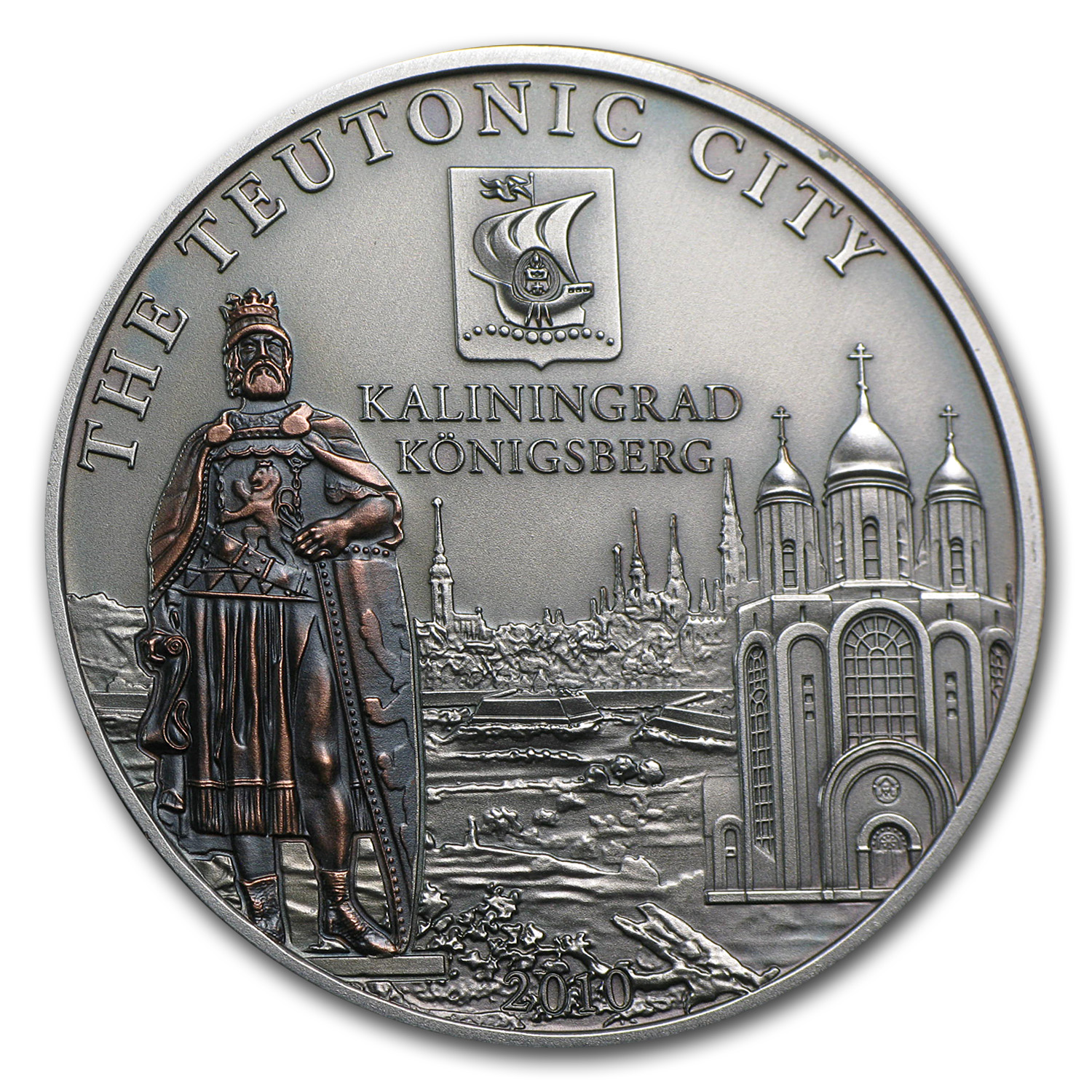 Cook Islands Silver 2010 $5 Hanseatic League - Kaliningrad