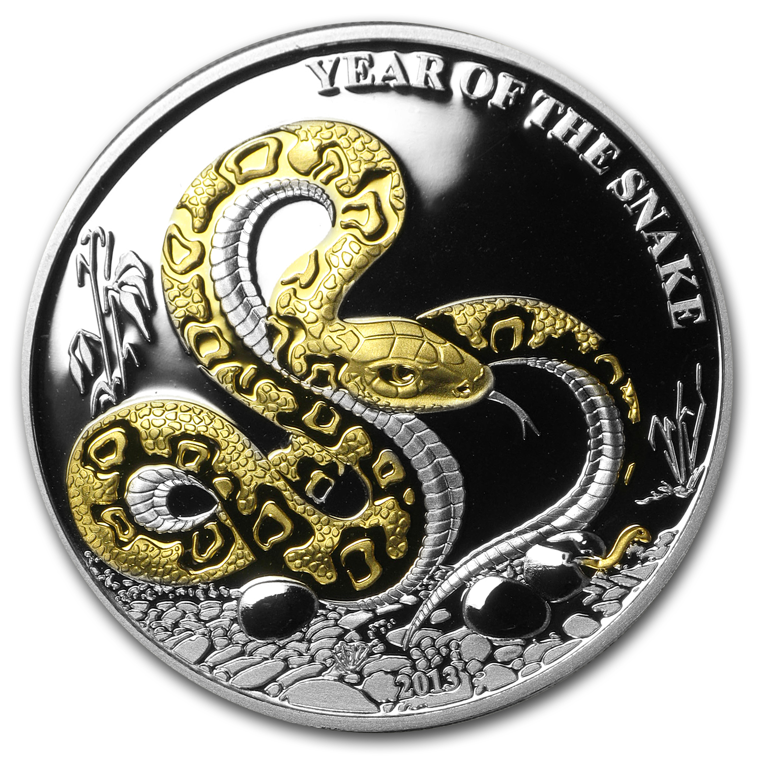 2013 Togo Silver 1,000FR CFA Year of the Snake Proof