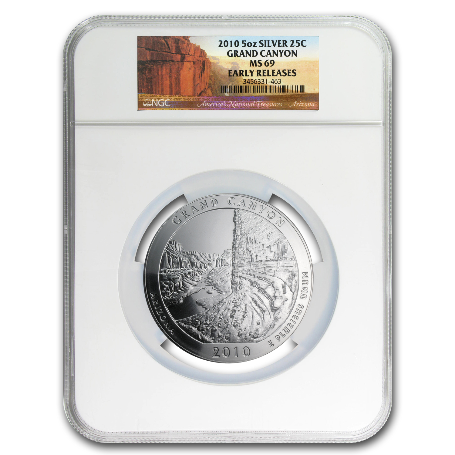 2010 5 oz Silver ATB 5-Coin Set MS-69 NGC Early Releases