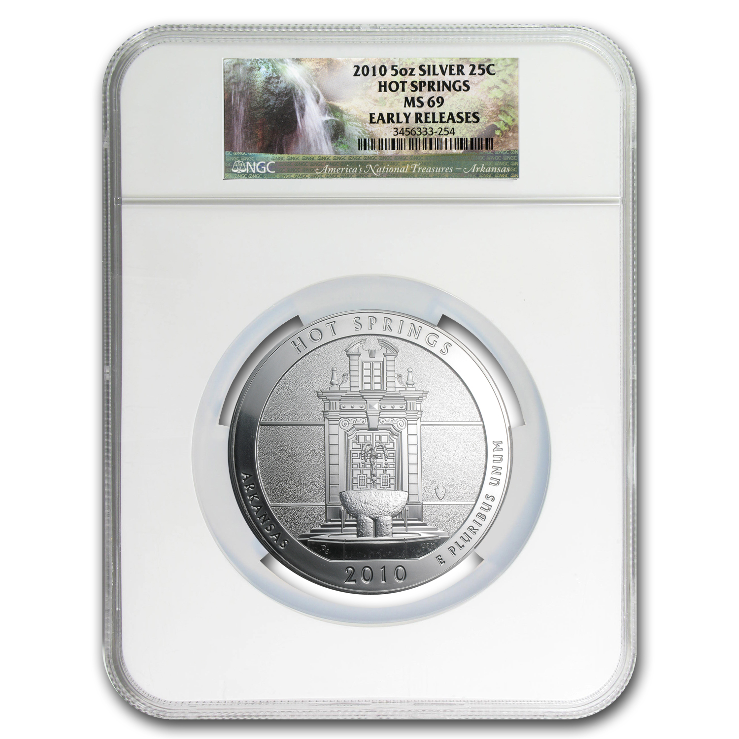 2010 5-Coin 5 oz Silver ATB Set MS-69 NGC (Early Releases)
