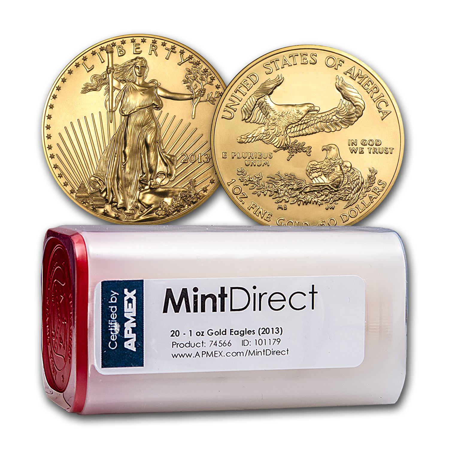 2013 1 oz Gold American Eagle (20-Coin MintDirect® Tube)