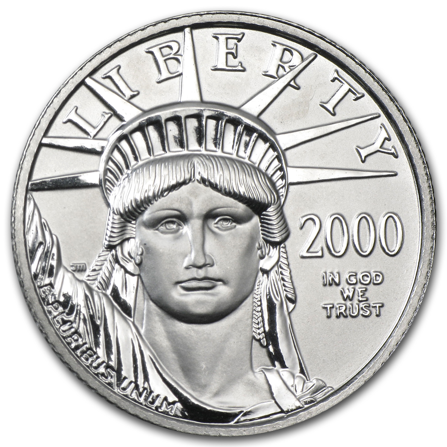 2000 1/4 oz Platinum American Eagle BU