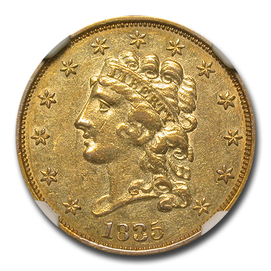 1835 $2.50 Gold Classic Head - Almost Uncirculated-55 NGC