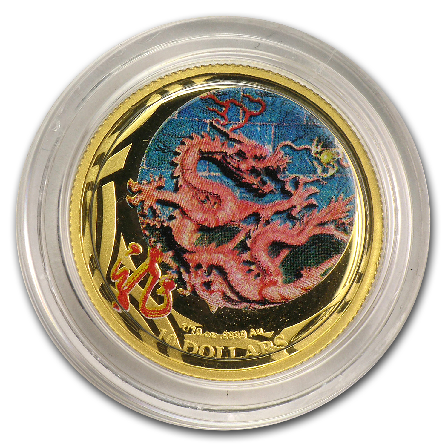 2012 Australia 1/10 oz Proof Gold Lunar Dragon