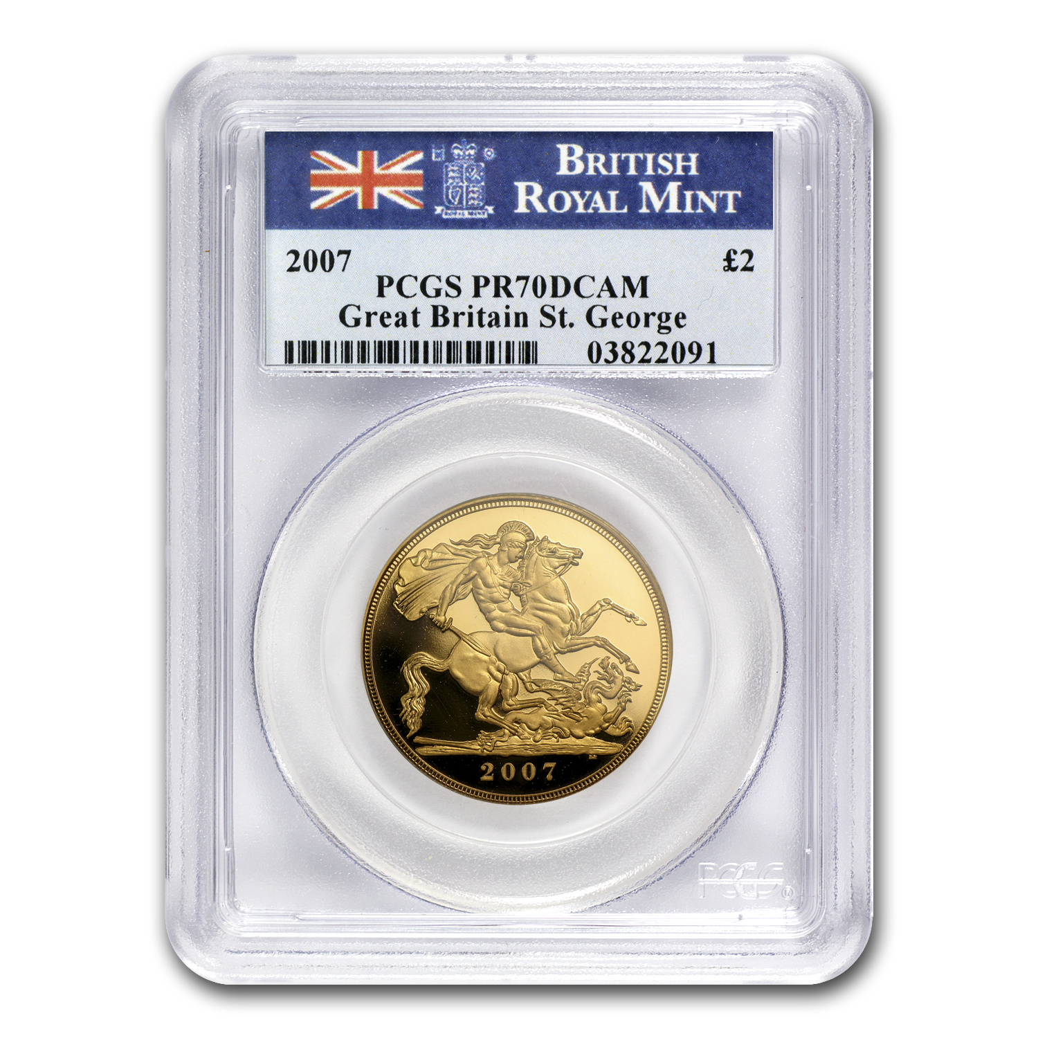 2007 Great Britain Gold £2 PR-70 PCGS