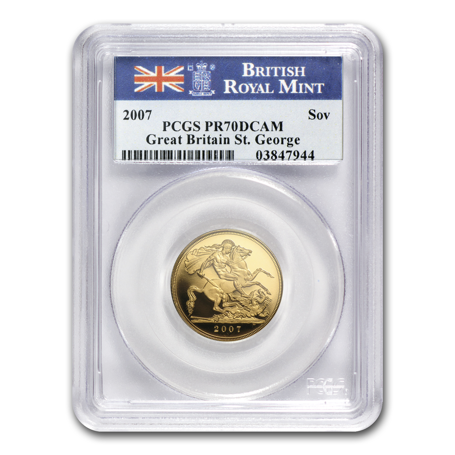 Great Britain 2007 Gold Sovereign PR-70 DCAM PCGS