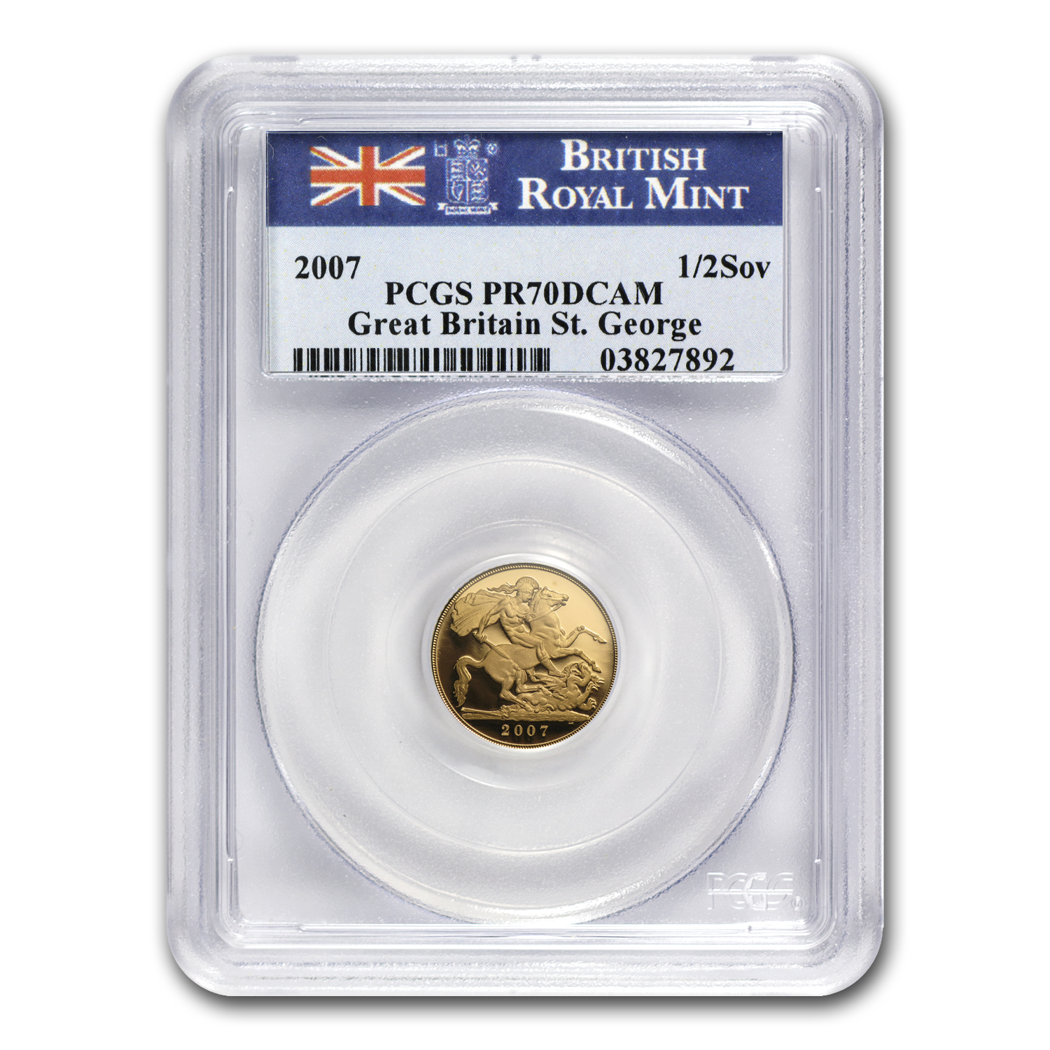 2007 Great Britain Gold 1/2 Sovereign PR-70 PCGS