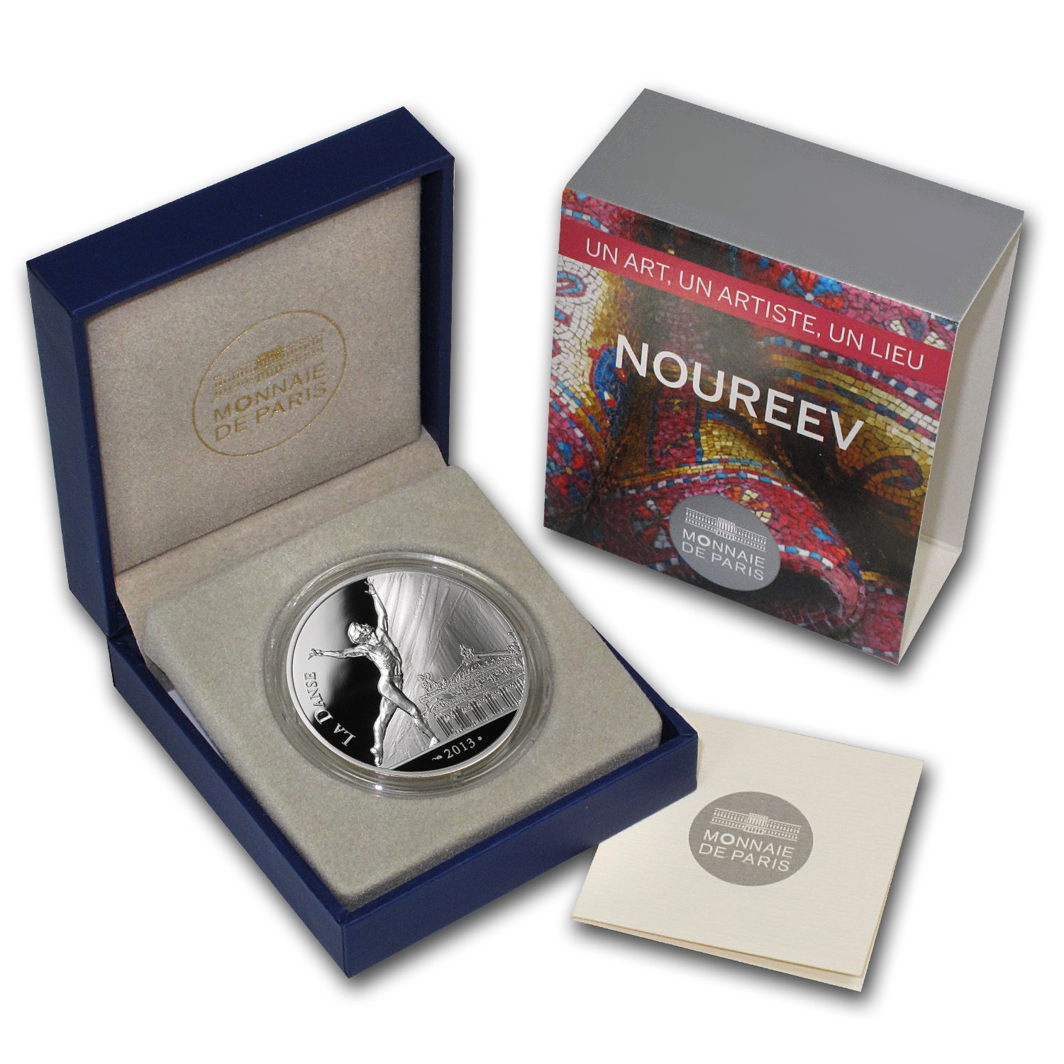 "2013 Silver €10 ""7"" Arts Series Proof (Rudolf Nureyev)"