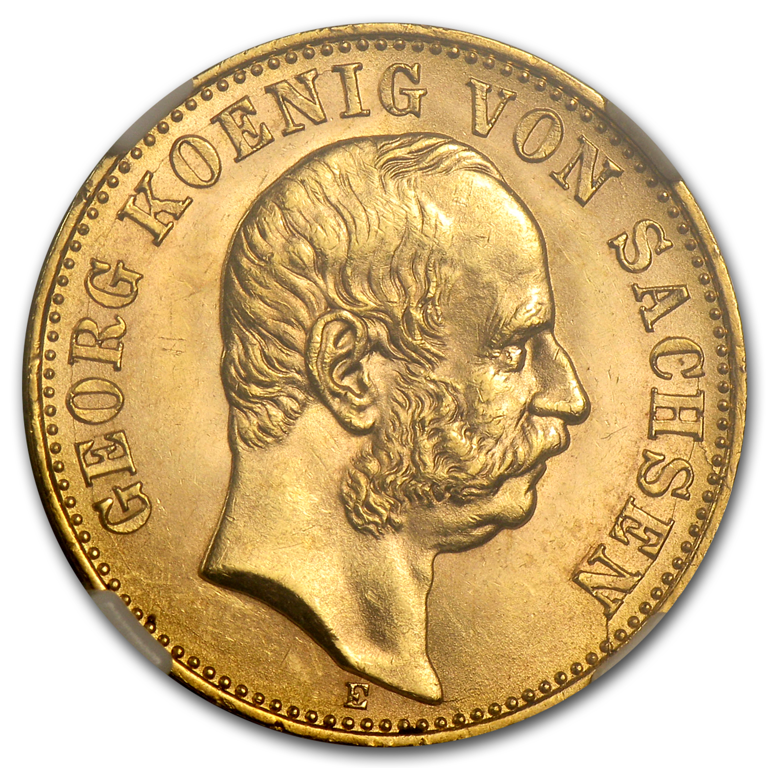 1904-E Germany/Saxony Gold 10 Marks MS-65 NGC