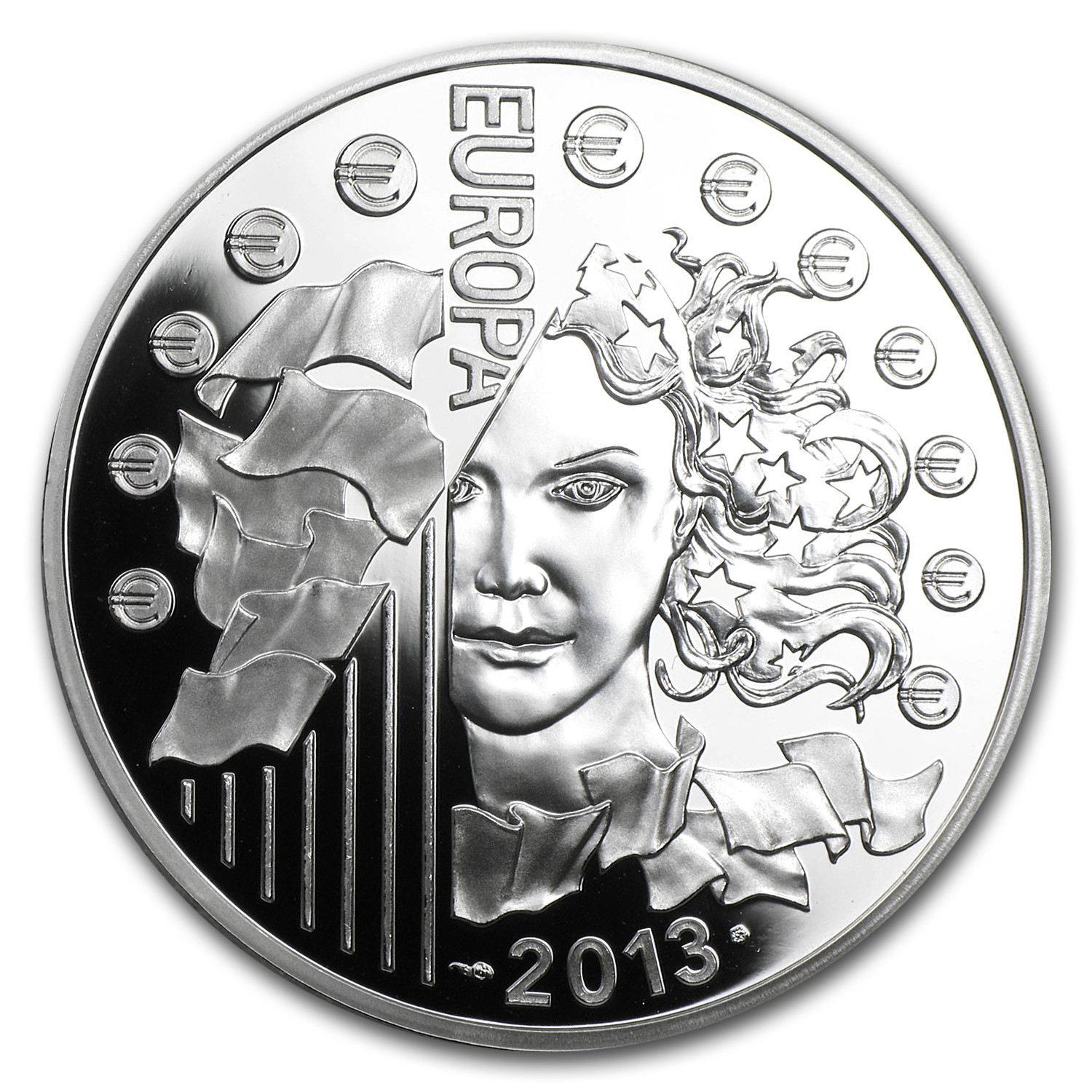 2013 Silver €10 Europa Series Proof (50th Anniv of Élysée Treaty)