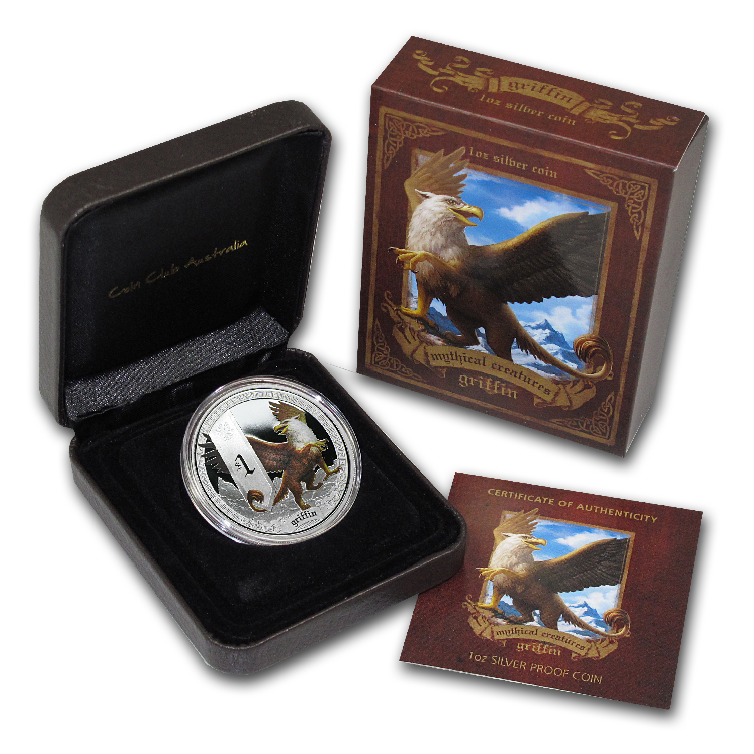 2013 1 oz Silver Tuvalu Mythical Creatures Griffin Proof