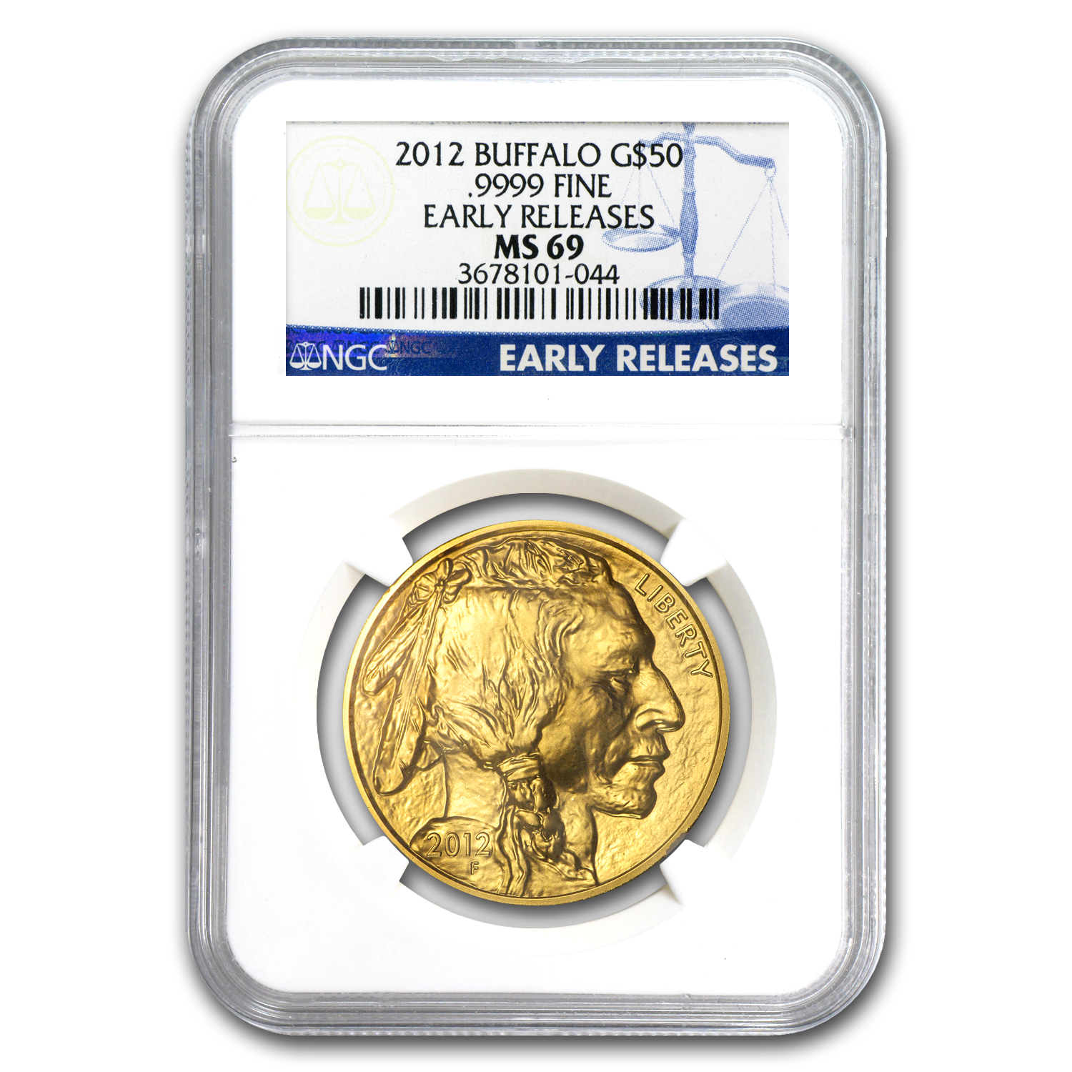 2012 1 oz Gold Buffalo MS-69 NGC (Early Releases)