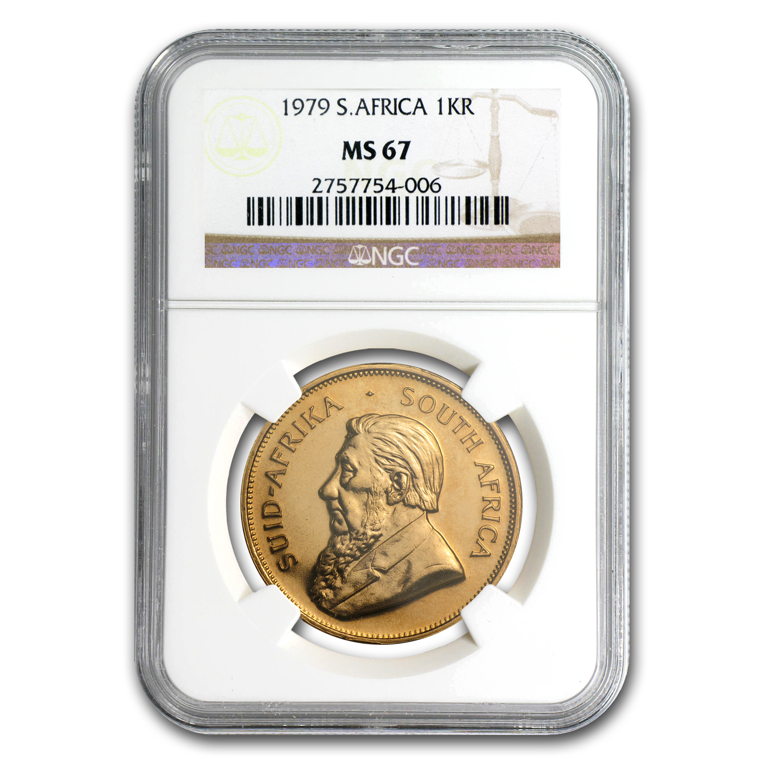 1979 1 oz Gold South African Krugerrand MS-67 NGC