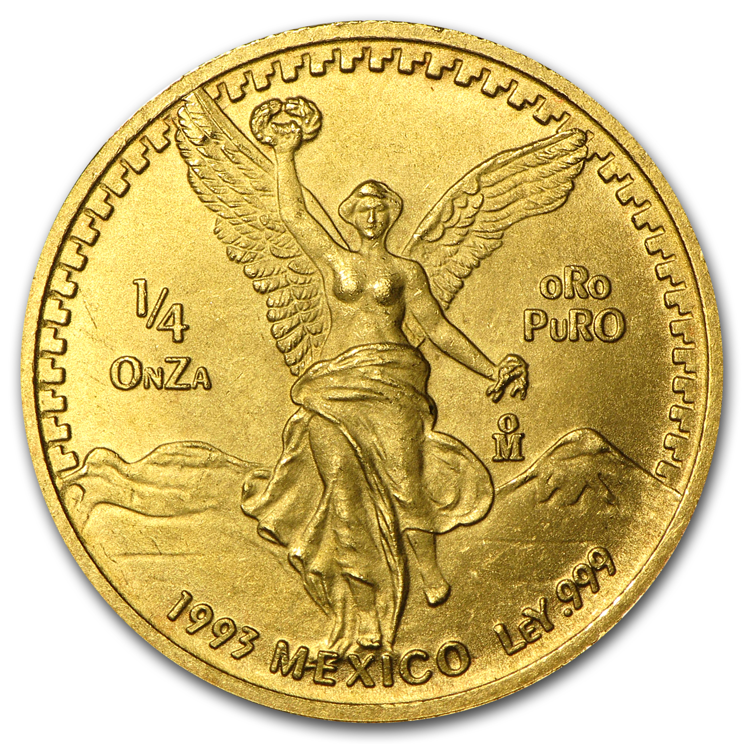 1993 Mexico 1/4 oz Gold Libertad BU