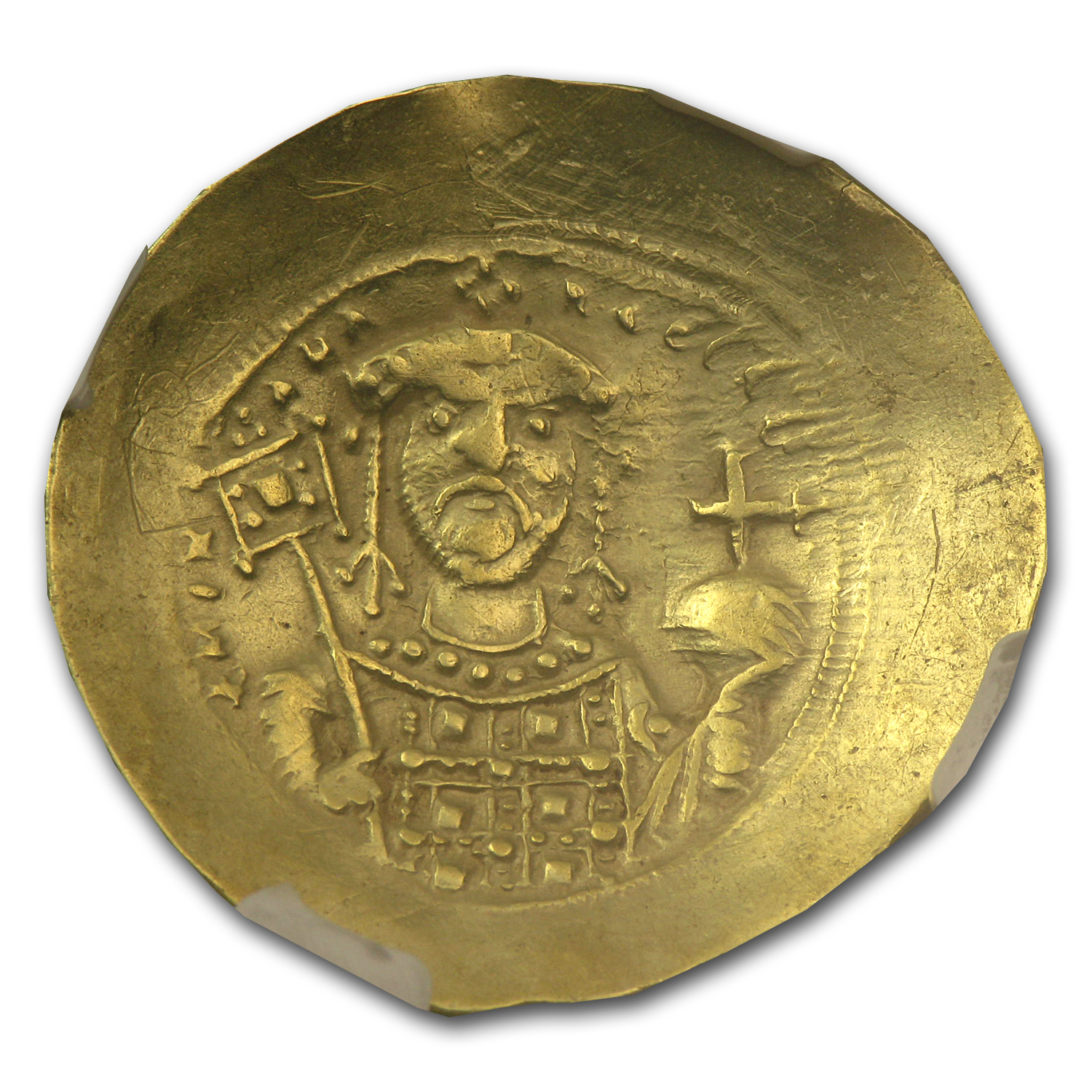 Byzantine Gold Histamenon Michael VII ChVF NGC (1071-1078 AD)