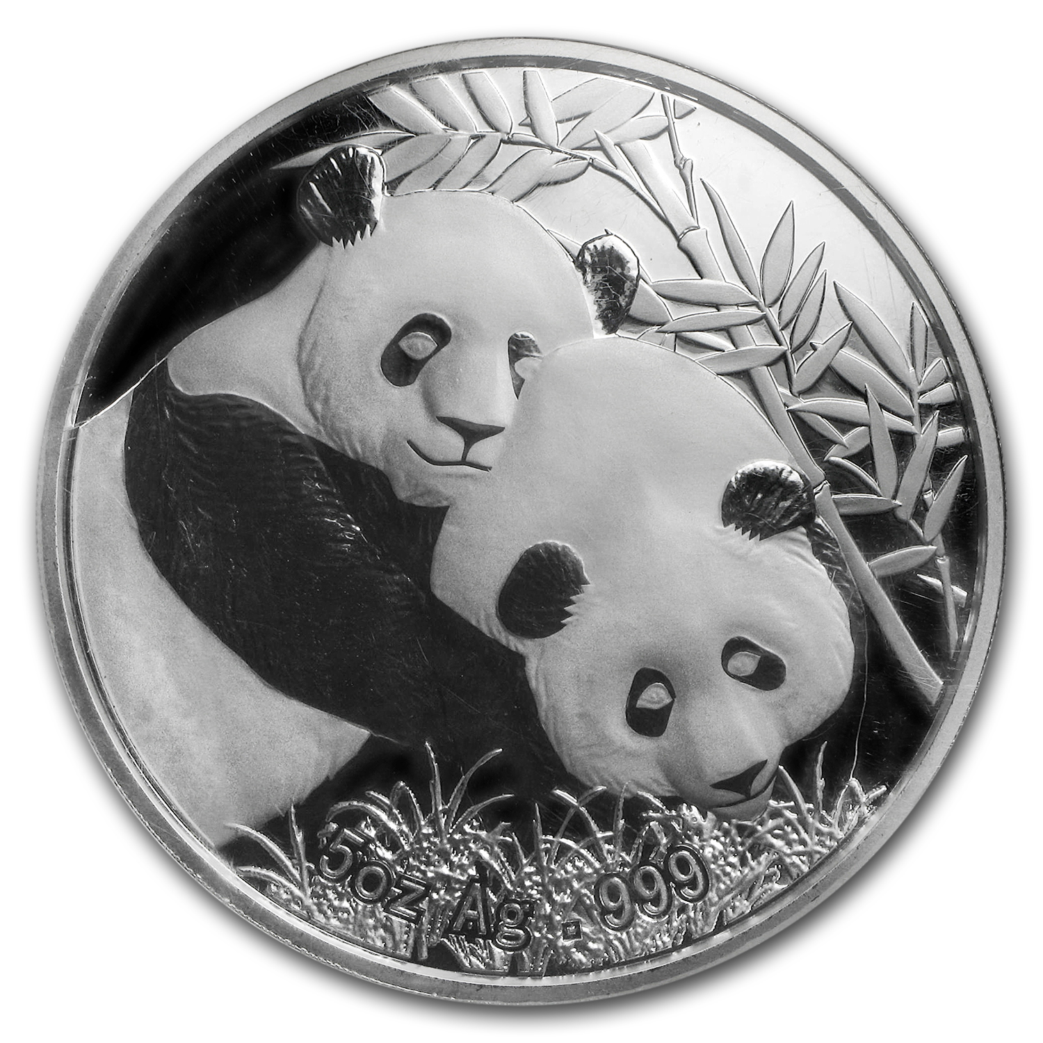 2012 China 5 oz Silver Panda PF-69 NGC