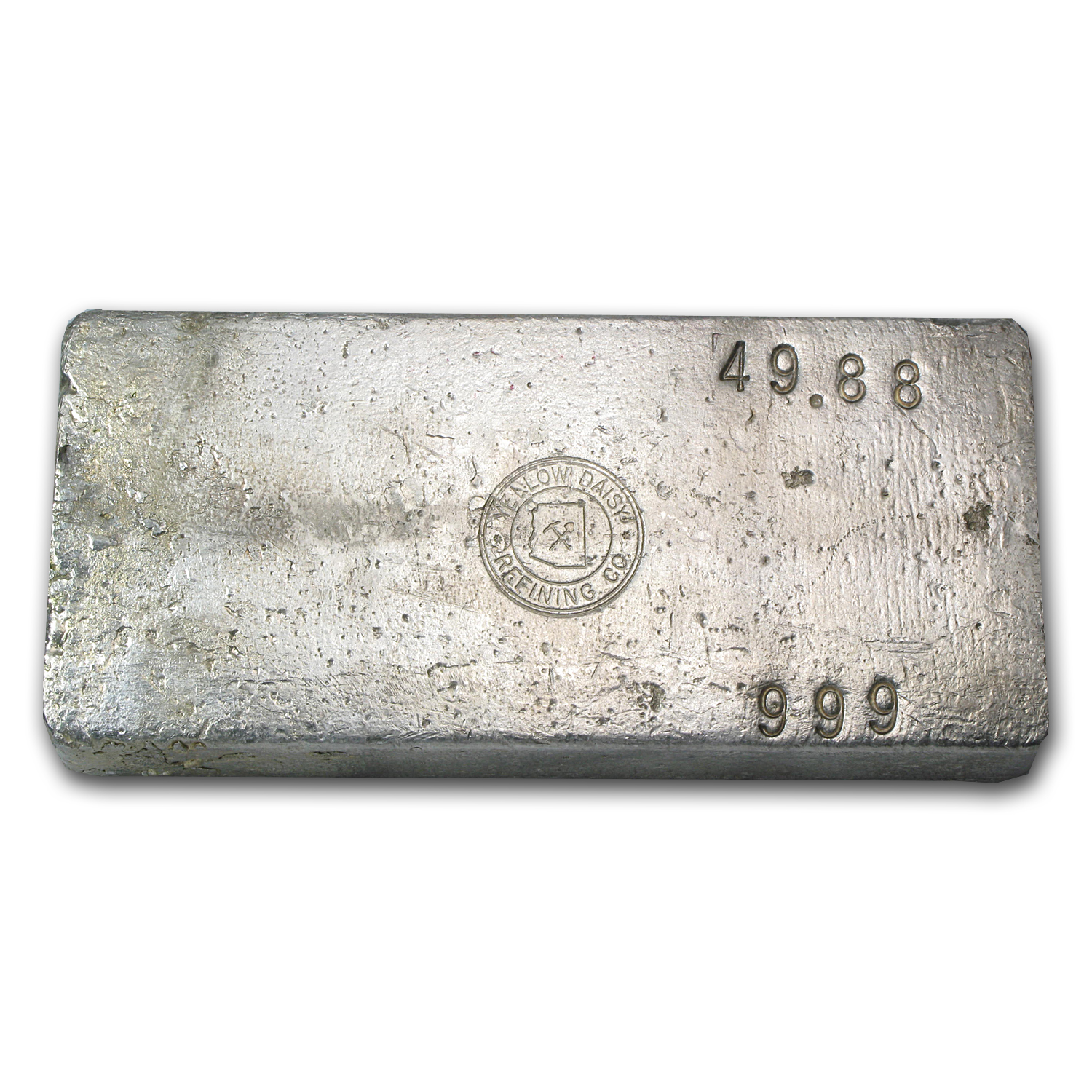 49.88 oz Silver Bar - Yellow Daisy Refining Co.