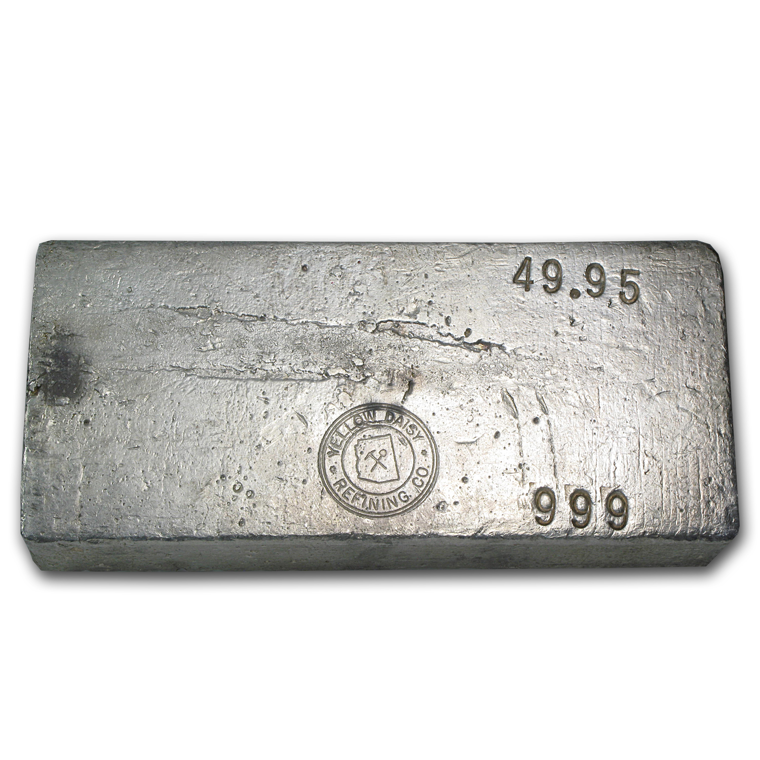 49.95 oz Silver Bar - Yellow Daisy Refining Co.