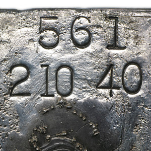 210.40 oz Silver Bar - Engelhard (Poured/Loaf)
