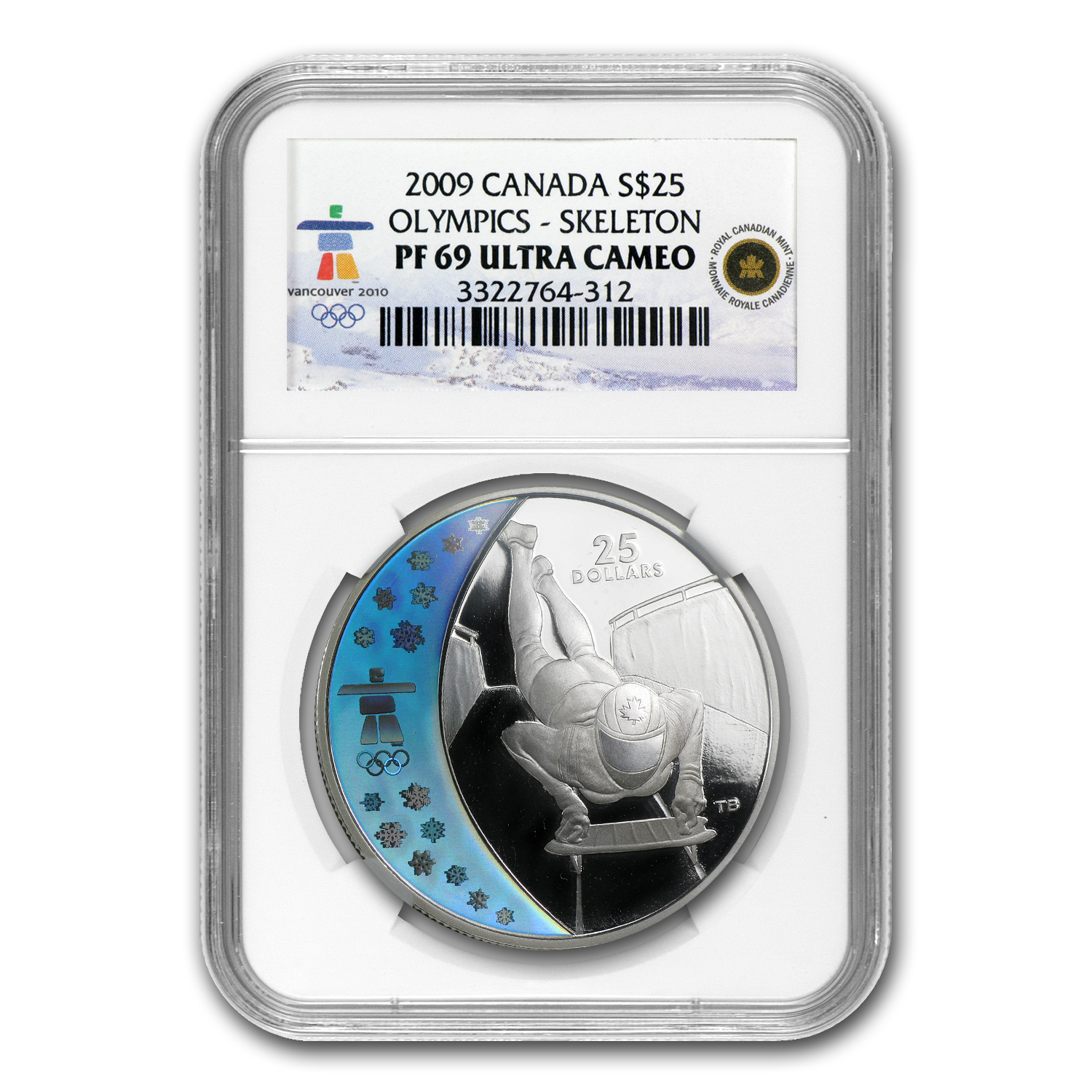 2009 Canada Silver $25 Olympic Skeleton PF-69 NGC