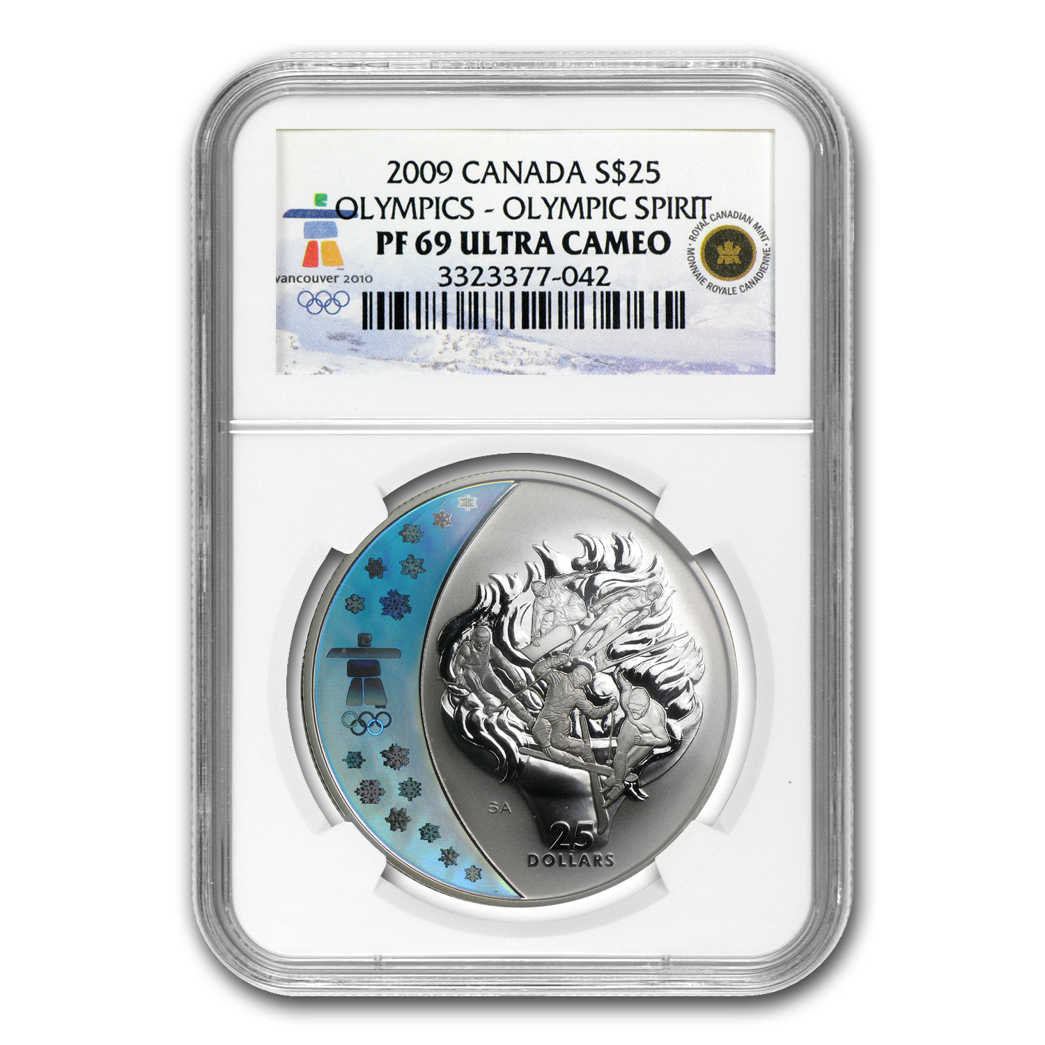 2009 Canada Silver $25 Olympic Spirit PF-69 NGC