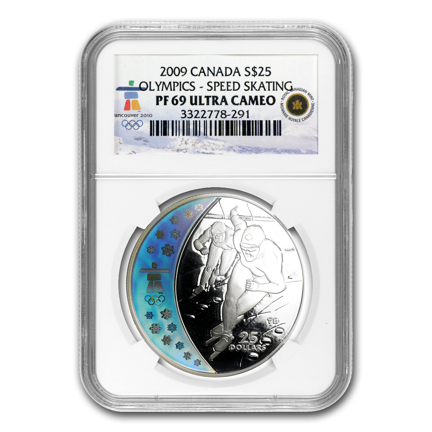 2009 Canada Silver $25 Olympic Speed Skating PF-69 NGC Ult Cam