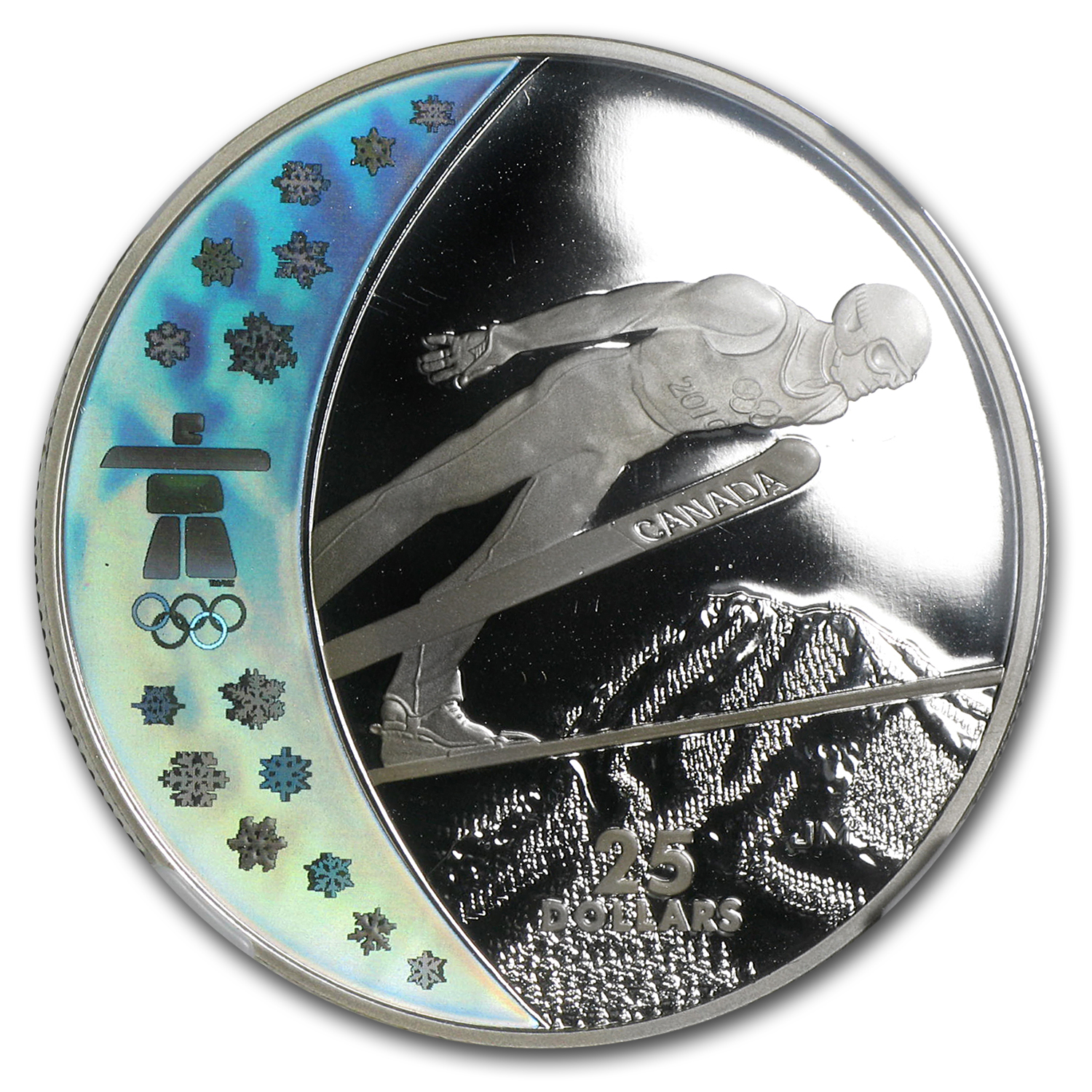 2009 Canada Silver $25 Olympic Ski Jumping PF-69 NGC