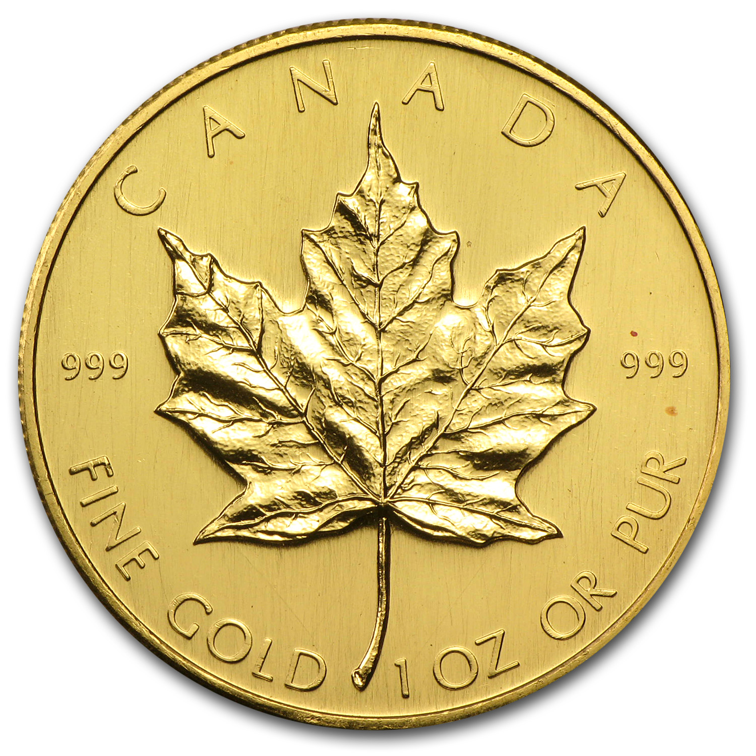 1980 1 oz Gold Canadian Maple Leaf BU