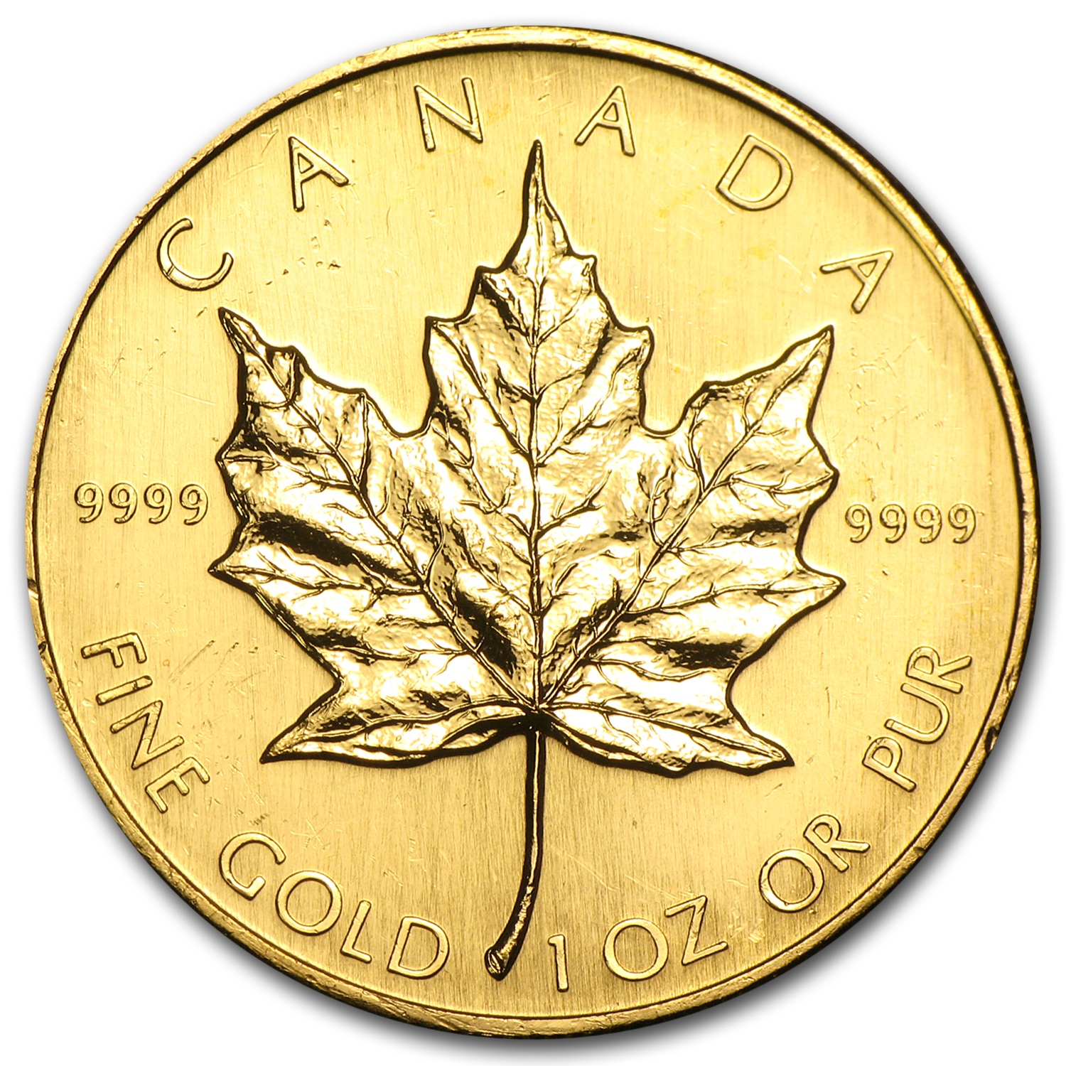1986 1 oz Gold Canadian Maple Leaf BU
