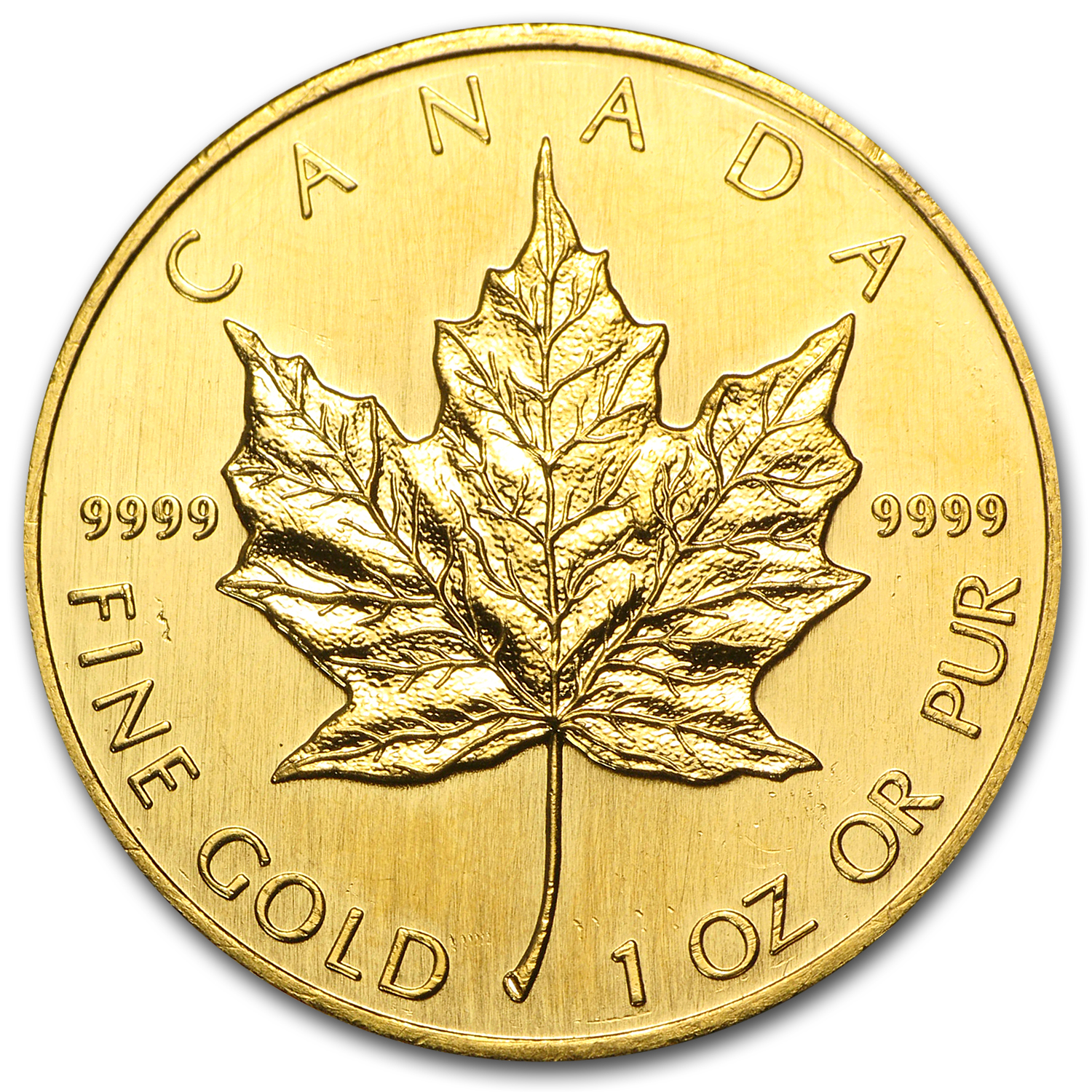 1990 Canada 1 oz Gold Maple Leaf BU
