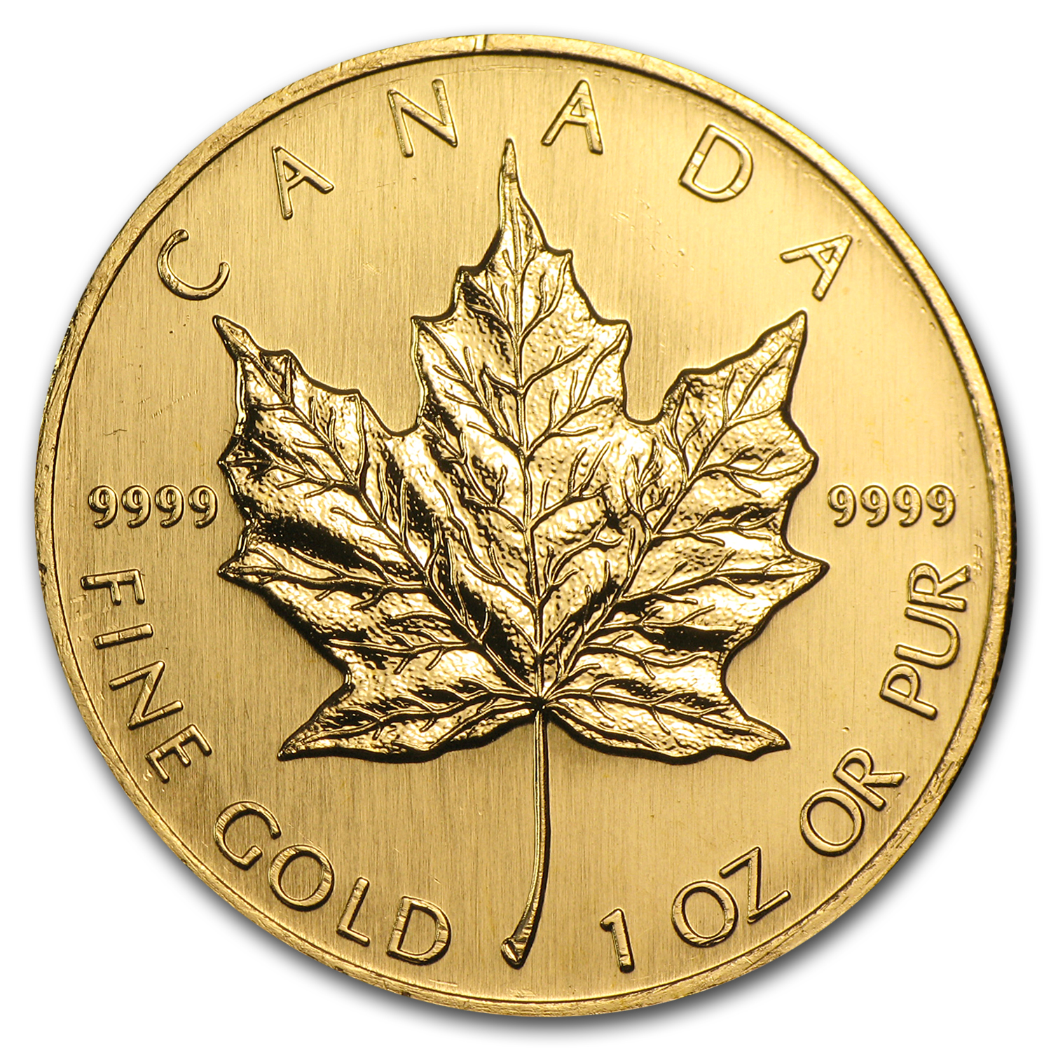1998 1 oz Gold Canadian Maple Leaf BU