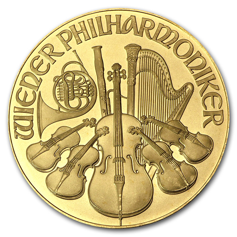 1995 1 oz Gold Austrian Philharmonic
