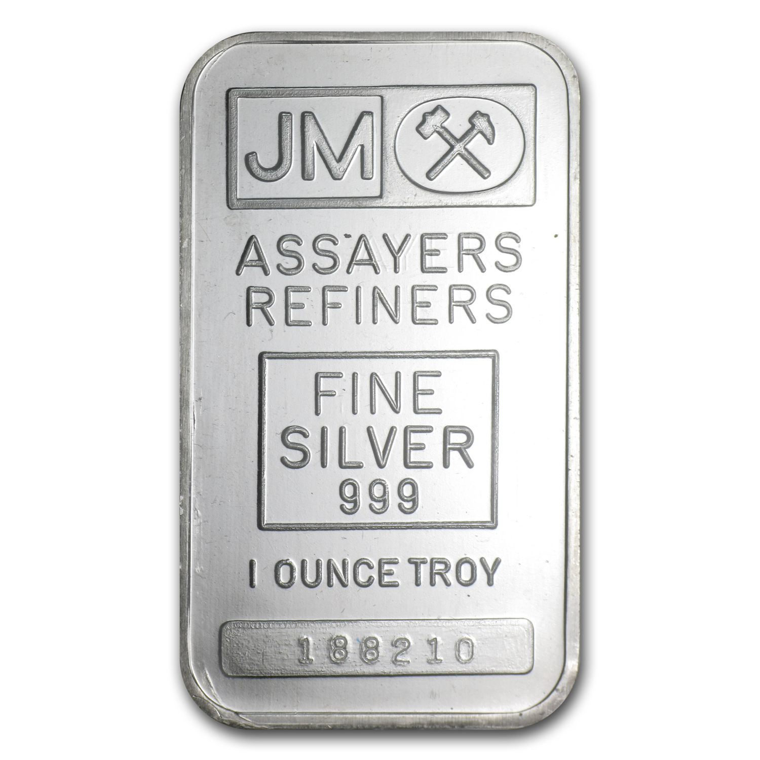 1 oz Silver Bars - Johnson Matthey (Sealed/Plain Back)