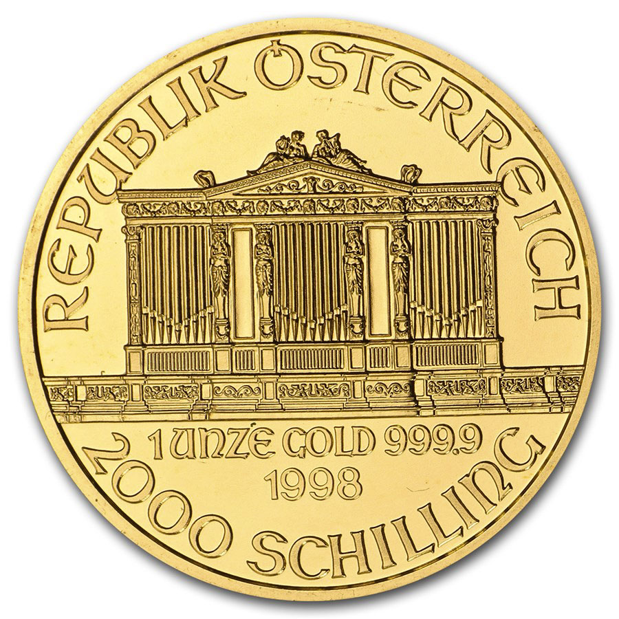 1998 1 oz Gold Austrian Philharmonic