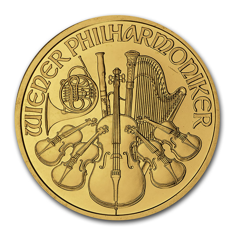 1999 1 oz Gold Austrian Philharmonic