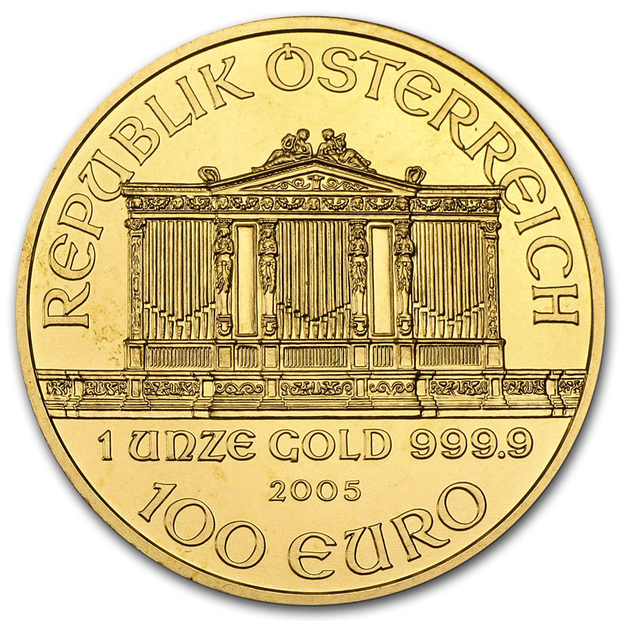 2005 1 oz Gold Austrian Philharmonic