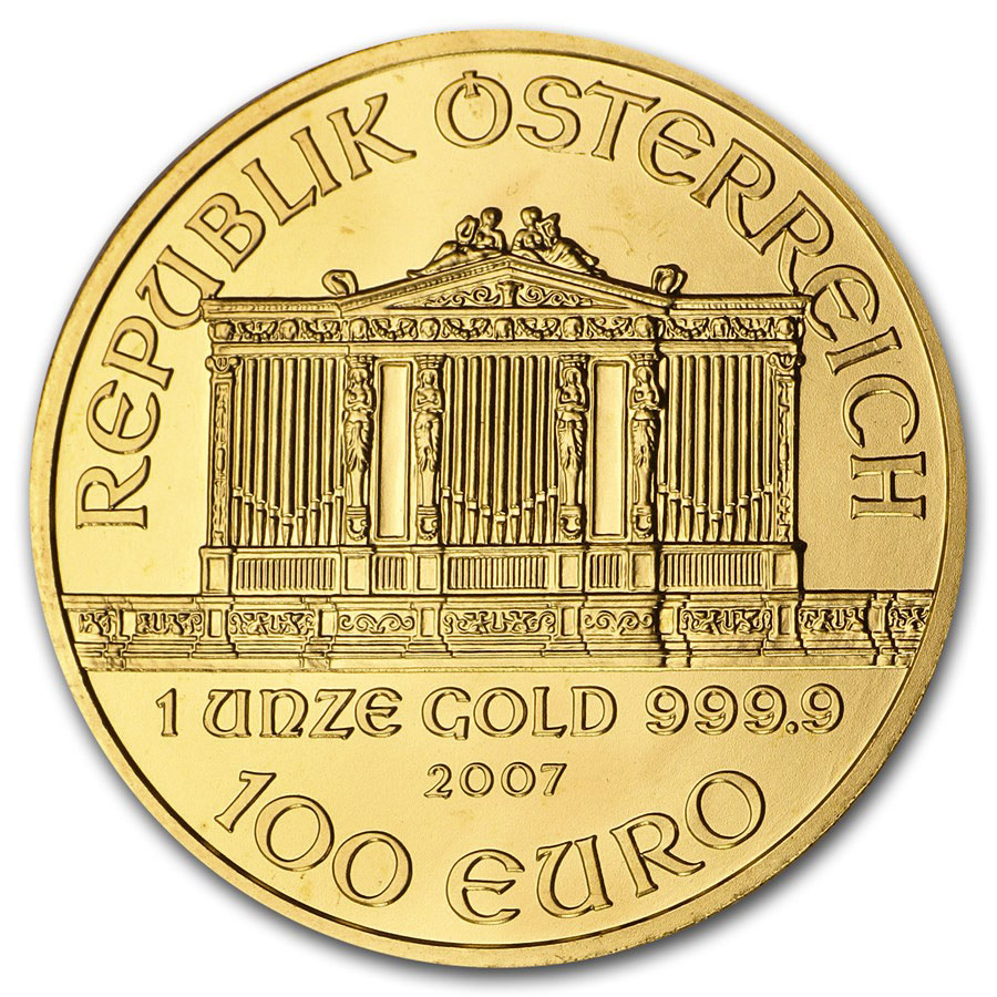 2007 1 oz Gold Austrian Philharmonic
