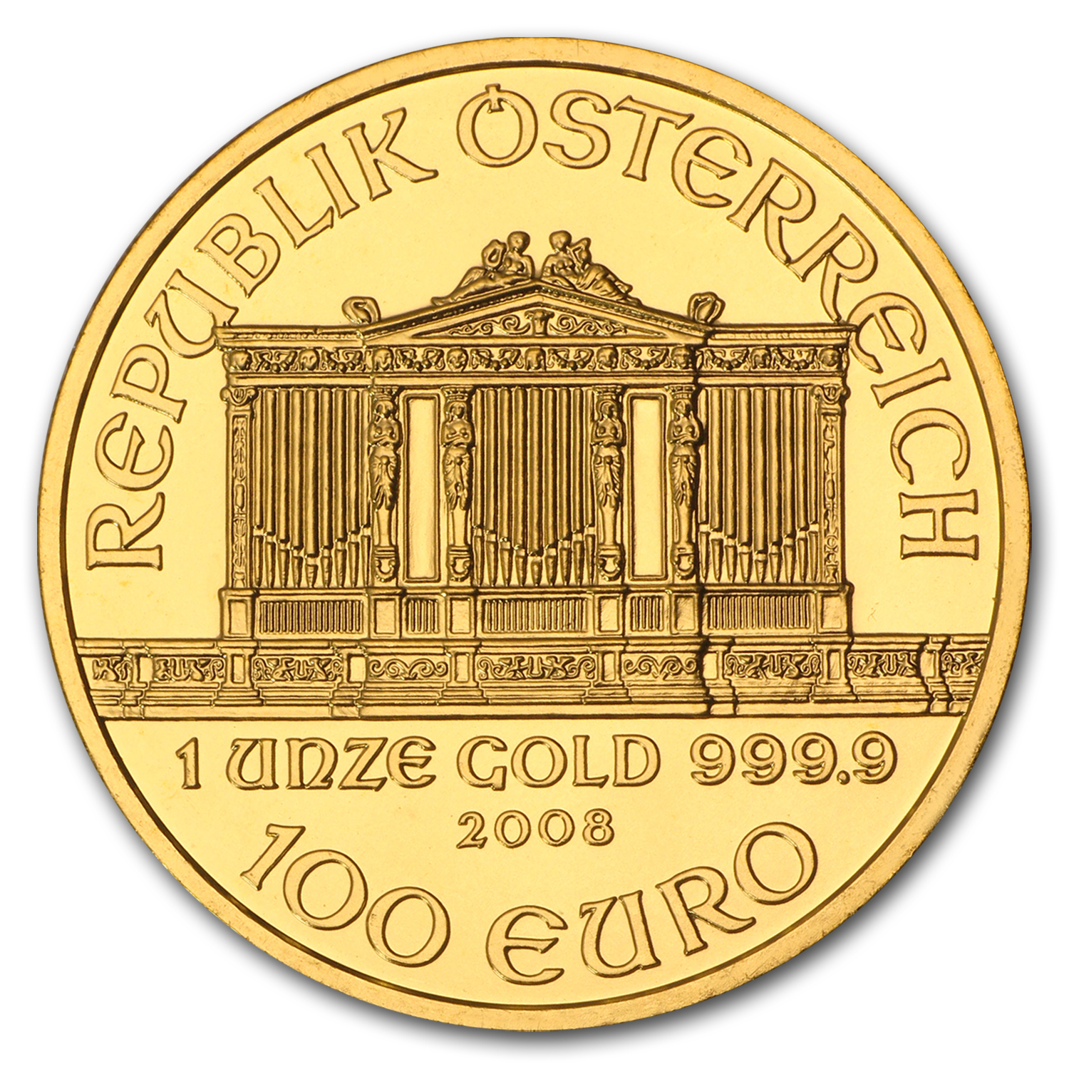 2008 1 oz Gold Austrian Philharmonic